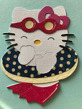 2 Big Hello Kitty Swim Ring Beach Summer Holiday Cat Die Cuts (Cards Scrapbook)
