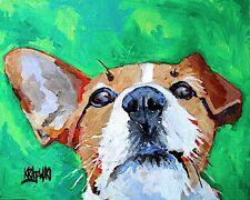 Jack Russell Terrier 11x14 signed art PRINT RJK parson