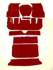 Dark red velours carpets kit for Volvo P1800 S  1963-1969