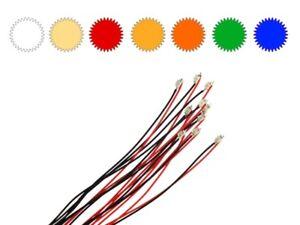 SMD Blink LED 0805 blinkend mit Kabel Litze Microlitze LEDs Farben AUSWAHL