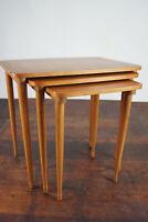 60er Nesting Tables Nussbaum Vintage Satztische 3x Beistelltisch Danish Modern