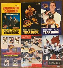 Lot of 6 Vancouver Canucks Official Year Book 1987 1988 1989 1990 1995 1996 1997