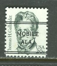 Mobile AL 243 DLE precancel on 20 Cent Gallaudet Great American