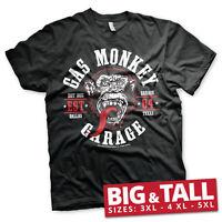 Officially Licensed Gas Monkey Garage Round Seal Klassic 3XL,4XL,5XL Men T-Shirt