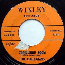 THE COLLEGIANS 45 Zoom Zoom Zoom / On Your Merry Way DOO WOP 60's Press e9323