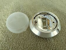 CHEVY II NOVA X BODY Dome Lamp Light Lens | Plastic Chrome Reflector Base - OER