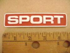 SPORT red & white plastic emblem sticker Dodge Nissan Toyota Ford explorer Chevy