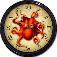 Steampunk Octopus Wall Clock Victorian Goth Gothic Vintage Sea Creature New 10""