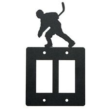 Hockey Double Rocker Cover Plate Black