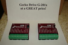 Two CNC Gecko G-201X ONE YEAR WARRANTY stepper motor Drivers WITH EXTRAS G-201