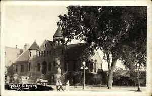 Billings MT Library c1920 Real Photo Postcard