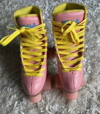 Impala Quad Roller Skates Vegan - Pink / Yellow - Women's Size 7 Preowned