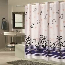 """Carnation Home Extra Long EZ-ON® """"Blue Note"""" Polyester Shower Curtain"""