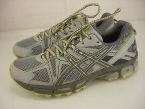 Women's 9.5 M Asics GEL-Kahana 8 Mid Grey Carbon Limelight Trail Running Shoes