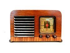 VINTAGE RESTORED NEAR MINT BEAUTIFUL PHILCO ART DECO ANTIQUE RADIO + WORKING