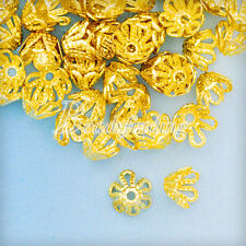 70-80Pcs Iron Filigree Flower Bead Caps Jewelry Findings Craft 4x6x6mm
