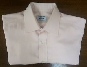 Brioni Dress Shirt, 17 L, 100% Cotton, Made In Italy