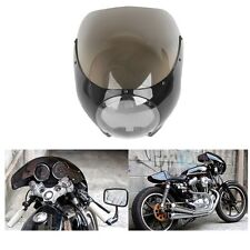"ABS Cafe Racer 5 3/4"" Headlight Fairing Windscreen For Harley Sportster XL Dyna"