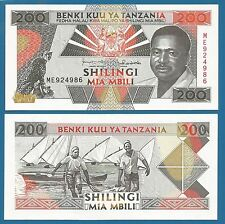 Tanzania 200 Shilingi P 25 b ND (1993) UNC Sign 11 Low Shipping! Combine FREE!
