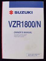 GENUINE 2008 SUZUKI 1800 VZR1800 VZR1800N MOTORCYCLE OPERATORS MANUAL VERY NICE