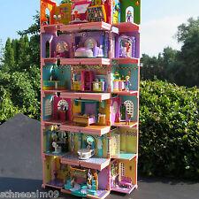 Mini Polly Pocket Stapelvilla Puppenhaus 6 Zimmer Kunst Atelier 2 Schlafzimmer
