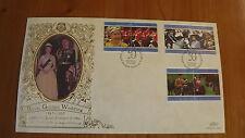 1997 Cayman Islands Benham Silk Commemorative Cover Queen's Golden Wedding