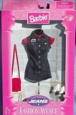 barbie FASHION AVENUE Authentic Jeans robe sac rouge chaussure 1997 Mattel 19179