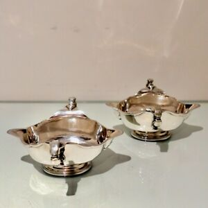 George V Sterling Silver Pair Sauce Boats London 1932 Lionel Alfred Crichton