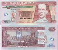 GUATEMALA BILLETE 10 QUETZALES. 20.03.2013 LUJO. Cat# P.123d