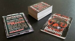 1996 Battletech Card Lot 100+ Cards First Game Guide, Rule Book
