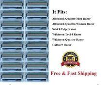 16 Schick Quattro Blades Refills Cartridges fit Titanium Razor Shaver Germany 4