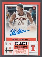 Malcolm Hill RC Autograph 2017 17-18 Contenders Rookie College Ticket Auto #122