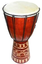 Djembe Drum - Hand Carved Tribal Style - Various Sizes - Fair Trade