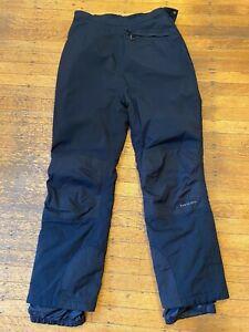 L. L. Bean Nylon Winter Snow Pants Women's Large Black