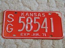 ANTIQUE 1971 KANSAS LICENSE TAG/PLATE - #58541