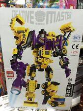 Enlighten Transformers 599 Pieces Yellow Devastator Block Brick Box Set NEW