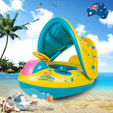 Adjustable Inflatable Sunshade Swimming Pool for Baby Kids Float Seat Boat Toys