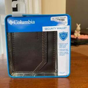 Columbia Men's Faux Leather Bifold Wallet - Brown - RFID Protected