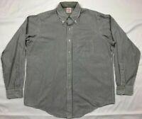 Vtg Brooks Brothers Mens White Striped L/S Button Down Dress Shirt Sz 16 1/2 A4