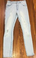 Forever 21 Skinny Jeggings Jeans Size 26 Mid Rise Tapered Trashed Distressed