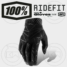 GUANTI 100% RIDEFIT MX BLACK/WHITE ADULTO MOTOCROSS ENDURO OFF-ROAD ATV MTB