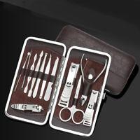 12pcs Nail Care Cutter Cuticle Clippers Mini Pedicure Manicure Tool Kit Set dfg
