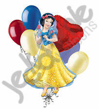 7 pc Snow White Disney Princess Balloon Bouquet Happy Birthday Party Decoration