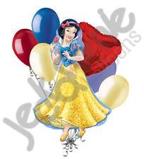 7 pc Snow White Disney Princess Balloon Bouquet Happy Birthday Party Decoration
