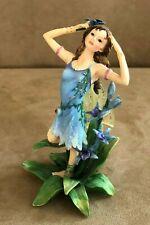 Delphinia Faerie Glen figurine blue dress fairy retired garden FG 837