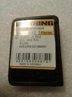 ".0331/"" Pkg of 10 0.840mm Guhring Micro Precision Cobalt Drill Bits 660 Series"