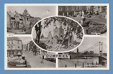 TUCK MULTIVIEW REAL PHOTO POSTCARD - DUMFRIES, DUMFRIES & GALLOWAY