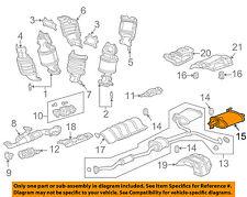 HONDA OEM 03-05 Accord 3.0L-V6-Muffler 18035SDBA10