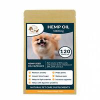 120 Hemp Seed Oil For Dogs, Hempseed Dog Supplement Omega (Bio-Degradable Pack)