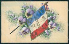 Propaganda WWI Francia France Flag cartolina XF8314